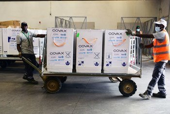 More than 355,000 doses of COVID-19 vaccines shipped by COVAX arrive in Niamey, the capital of Niger.