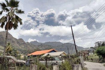 Volkano katika mlima La Soufriere ilianza kulipuka tarehe 14 mwezi Aprili katika kisiwa cha St Vincent