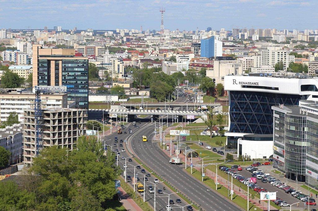 La ville de Minsk, capitale du Belarus, pays d'Europe orientale