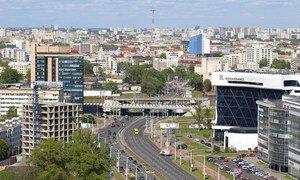 View of Minsk, capital of Belarus
