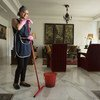 من الأرشيف: يكافح عمال وعاملات المنازل من أجل الاعتراف بهم كعمال ومقدمي خدمات أساسيين.