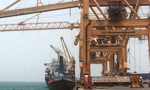 ميناء الحديدة، اليمن.