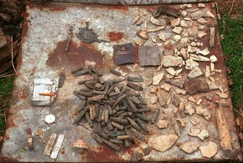 Items recovered in a warehouse in the former Yugoslavia where men and boys were held, were used as evidence in trials at the ICTY.