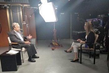 الأمين العام للأمم المتحدة أنطونيو غوتيريش في حوار مع الزميلة مي يعقوب من قسم أخبار الأمم المتحدة