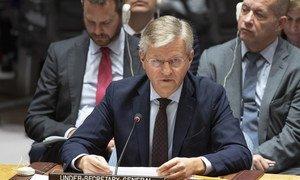 Jean-Pierre Lacroix, Secrétaire général adjoint de l'ONU aux opérations de paix, devant le Conseil de sécurité.