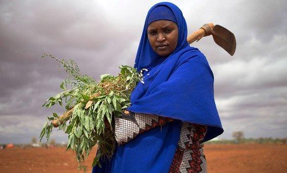 Mulher deslocada na Somália