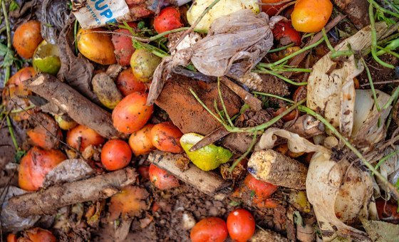 Food waste, pictured here at Lira market in Uganda, is a significant challenge for farmers and vendors alike.