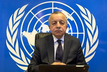 Zahir Tanin, Special Representative of the UN Secretary-General in Kosovo, briefs members of the Security Council.