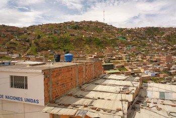 The city of Soacha just outside the Colombian capital Bogota.