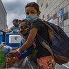 The UN Population Fund helps Venezuelan migrants at the Tienditas Health Care Center in Colombia.