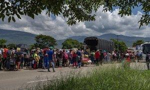 2020年6月,超过1000名委内瑞拉人抵达哥伦比亚边境城市库库塔。联合国机构、哥伦比亚政府与合作伙伴共同努力,用三天的时间建起了这座帐篷医疗中心。