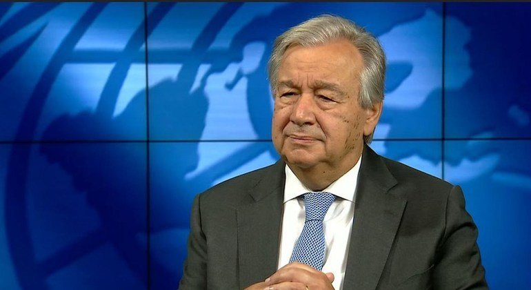 O secretário-geral defende que mundo corree o risco de uma catástrofe do ponto de vista climático