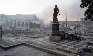 La capital de Haití, Puerto Príncipe, fue dañada a gran escala después del huracán.