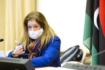 Stephanie Turco Williams, Représentante spéciale par intérim du Secrétaire général et chef de la Mission d'appui des Nations Unies en Libye, lors de la réunion à Genève du Comité consultatif du Forum de dialogue politique libyen