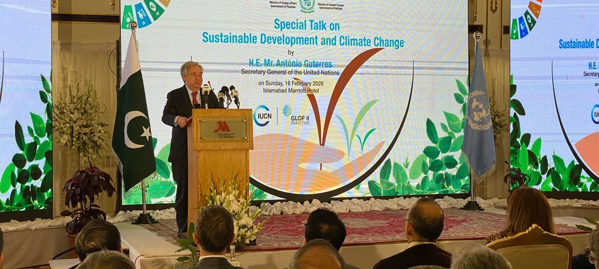 In Pakistan, Guterres urges world to step up climate action ...