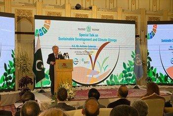 António Guterres fez um apelo global urgente por mais ambição na ação climática.