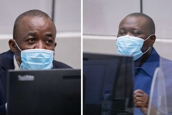 MM. Yekatom et Ngaïssona lors de l'ouverture de leur procès le 16 février 2021