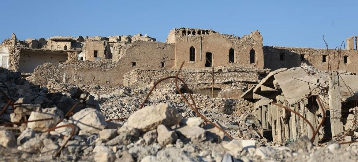The old city of Sinjar in Iraq.