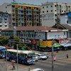 缅甸仰光街景。(2013年5月图片)