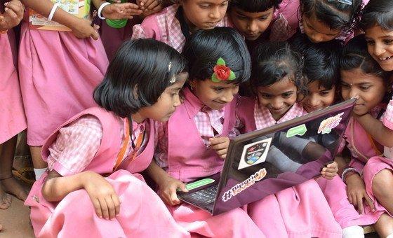 Girls learning through technology