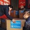 Vifaa tiba vilivyotolewa na shirika la mpango wa chakula duniani, WFP vikiwasili, Beijing.
