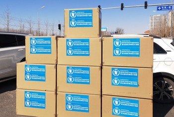 Le Programme alimentaire mondial (PAM) fournit des équipements médicaux vitaux aux hôpitaux de Hubei en Chine.