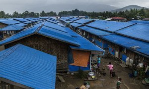 As of the start of 2021, about one million people are in need of humanitarian aid and protection in Myanmar. Pictured here, an IDP camp in Myanmar's Kachin province. (file photo)