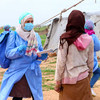 Outreach workers in central-western Syria are raising awareness about the pandemic.