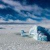 अण्टार्कटिक क्षेत्र में हिमखण्ड.