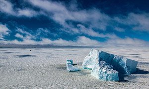 南极洲别林斯高晋海的冰山。
