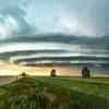 Des nuages supercellulaires se forment au-dessus de Burlington dans le Colorado, aux États-Unis.