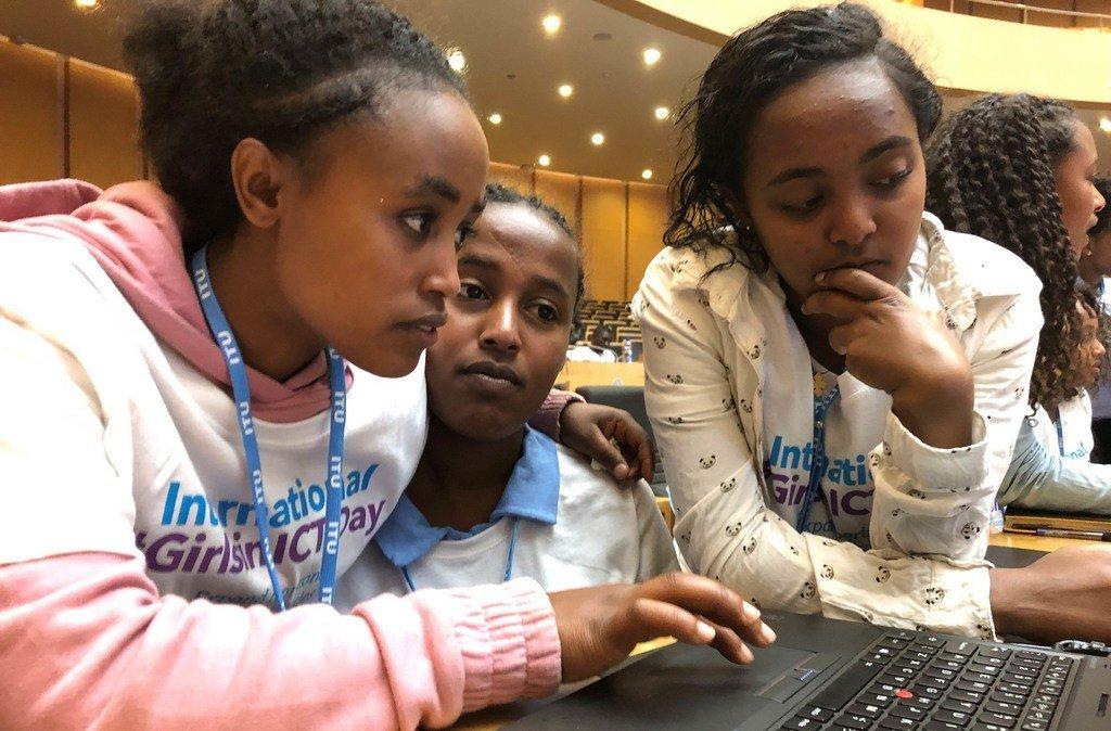 Siku ya kimataifa ya wasichana kwenye TEHAMA, Addis Ababa, Ethiopia, 2019.