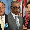 联合国安理会今天就克什米尔局势举行非正式闭门磋商会议。会后,中国、印度和巴基斯坦三国常驻联合国代表分别向媒体阐述了本国立场。