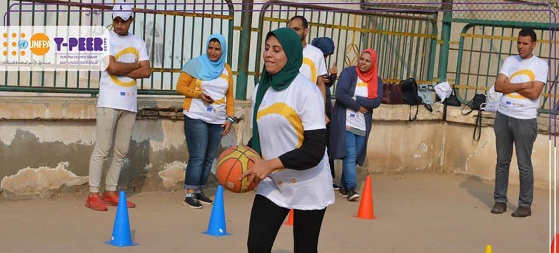يوم تفاعلي للشباب في مصر، في سياق الرياضة من أجل التنمية.