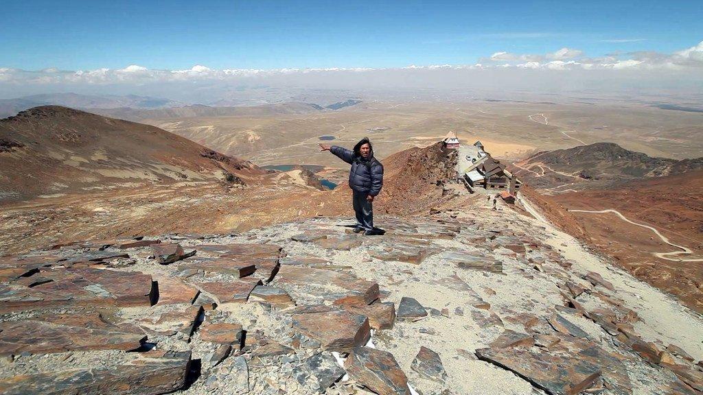 La región montañosa de Chacaltaya en Bolivia fue en tiempos una estación de esquí, pero los glacieres se fundieron hace décadas.