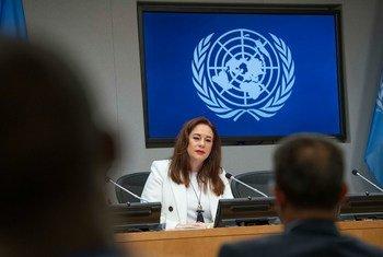 Conferencia de prensa de Maria Fernanda Espinosa Garcés, presidenta de la sesión 73 de la Asamblea General.