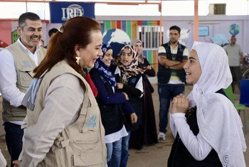 María Fernanda Espinosa, President of the Seventy-third Session of the General Assembly visits the Zaatar Camp in Jordan where she speaks to women and girls about their hopes and dreams and how the international community can support refugees.(23 July 2019)
