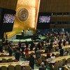 यूएन महासभा का 76वाँ सत्र शुरू होने के समय, एक मिनट का मौन रखा गया.