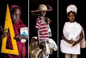One day I will be a: teacher: Sakima from Niger; shepherd: Abdel, Niger; nurse: Maimouna, Central African Republic.