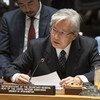 تاداميتشي ياماموتو، الممثل الخاص للأمين العام ورئيس بعثة الأمم المتحدة لتقديم المساعدة في أفغانستان (UNAMA) ، يطلع اجتماع مجلس الأمن على الحالة في أفغانستان.