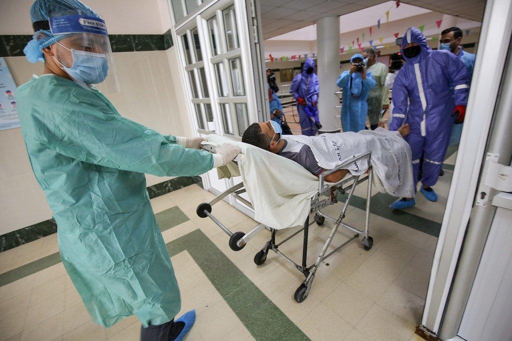 L'hôpital de Gaza pendant le pic de la pandémie de Covid-19.
