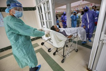 Hospitali kwenye ukanda wa Gaza huko Mashariki ya Kati wakati COVID-19 ilipokuwa imeshika kasi.