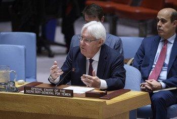 Martin Griffiths, Envoyé spécial du Secrétaire général de l'ONU pour le Yémen lors d'une réunion du Conseil de sécurité sur la situation dans ce pays du Moyen-Orient