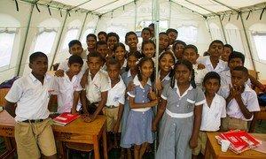 Eight grade students of Ami Chandra Memorial School in Lautoka, Viti Levu, Fiji.