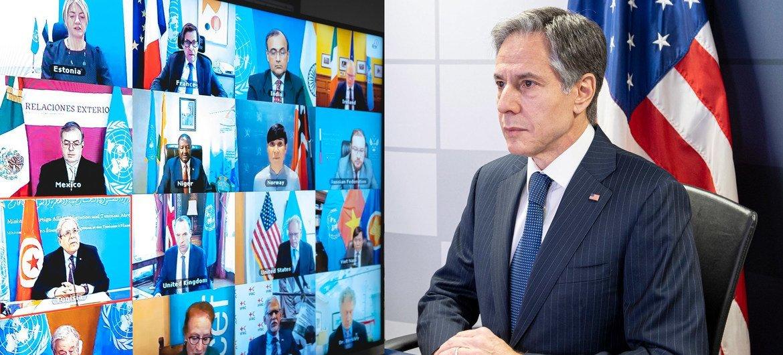 Na semana passada, secretário de Estado dos EUA, Antony J. Blinken, participou em encontro do Conselho de Segurança da ONU