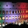 The Colosseum in Rome illuminated in the colours of the Italian flag. Italy is among the latest countries to temporarily suspend AstraZenica COVID vaccine shots (file photo).