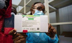 The AstraZeneca COVID-19 vaccine is delivered to a warehouse in Kinshasa, Democratic Republic of the Congo.