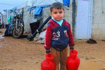 مخيم باريشا للنازحين من ذوي الاحتياجات الخاصة والأرامل اللواتي نزحن من قرى إدلب