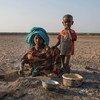 埃塞俄比亚乡村的一名女孩在做饭,而那里的土地一直受到反复干旱的影响。