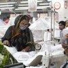 Des employés dans une usine de confection au Bangladesh.